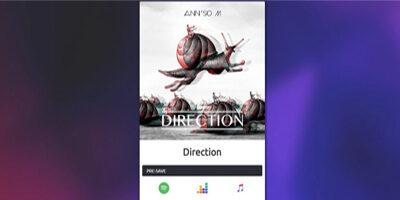 Pré-enregistre notre nouveau morceau Direction